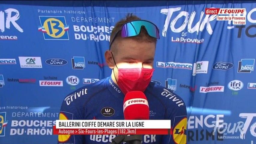 Ballerini : « Beaucoup de vent dans ce final » - Cyclisme - T. de La Provence