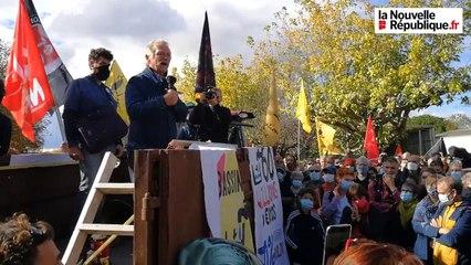 Manifestation anti-bassines à Epannes : quand José Bové promet de revenir le jour où