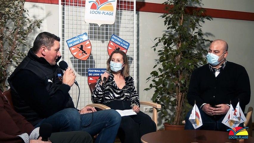 L'équipe fanion du FCLP en 32ème de finale de la Coupe de France. Interview de Franck Milliot, Président du club, Giuseppe Bianco, entraîneur, Anthony Milliot, capitaine de l'équipe et Vincent Jeannekin adjoint au Maire délégué aux Sports