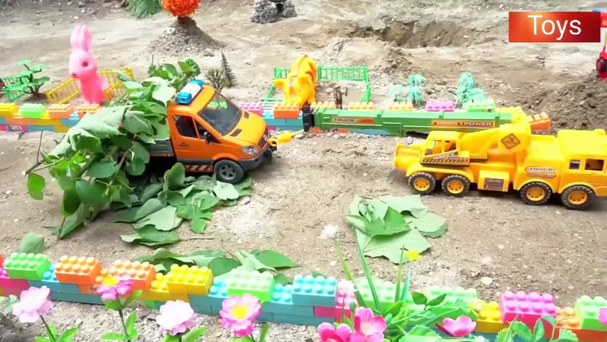 Bruder Toys Crane Truck Excavator, Tractor, Fire Truck, Garbage Trucks, Police Cars and Toy Set
