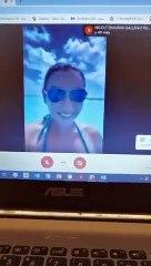 """Aluna surpreende durante aula online: """"Professor, estamos em Cancún"""""""