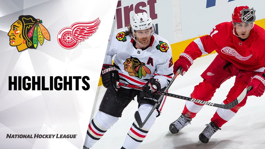 Blackhawks @ Red Wings 2/17/21 | NHL Highlights
