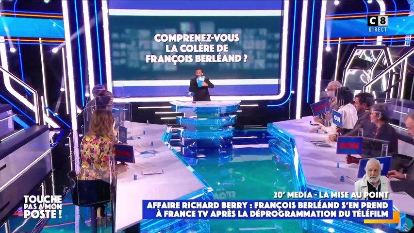 """François Berléand furieux dans TPMP que France 3 ait déprogrammé le téléfilm avec Richard Berry: """"Je trouve ça absolument scandaleux!"""""""