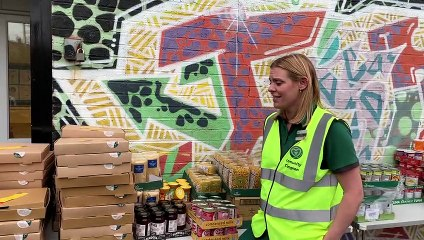 Pizza-making kits are handed out to Sheffield children in the school holidays