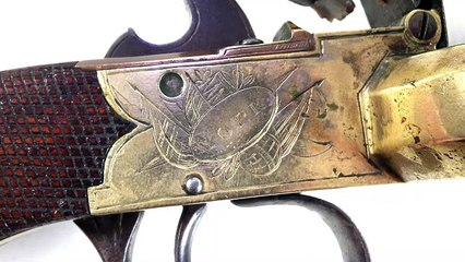 Duck's foot pistol at auction