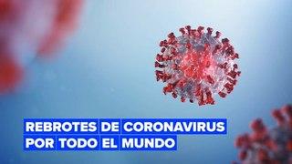 El número de casos de coronavirus aumentó en muchos países