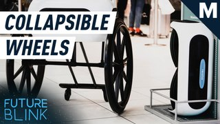 REVOLVE AIR is a super compact wheelchair that folds to the size of carry-on luggage – Future Blink