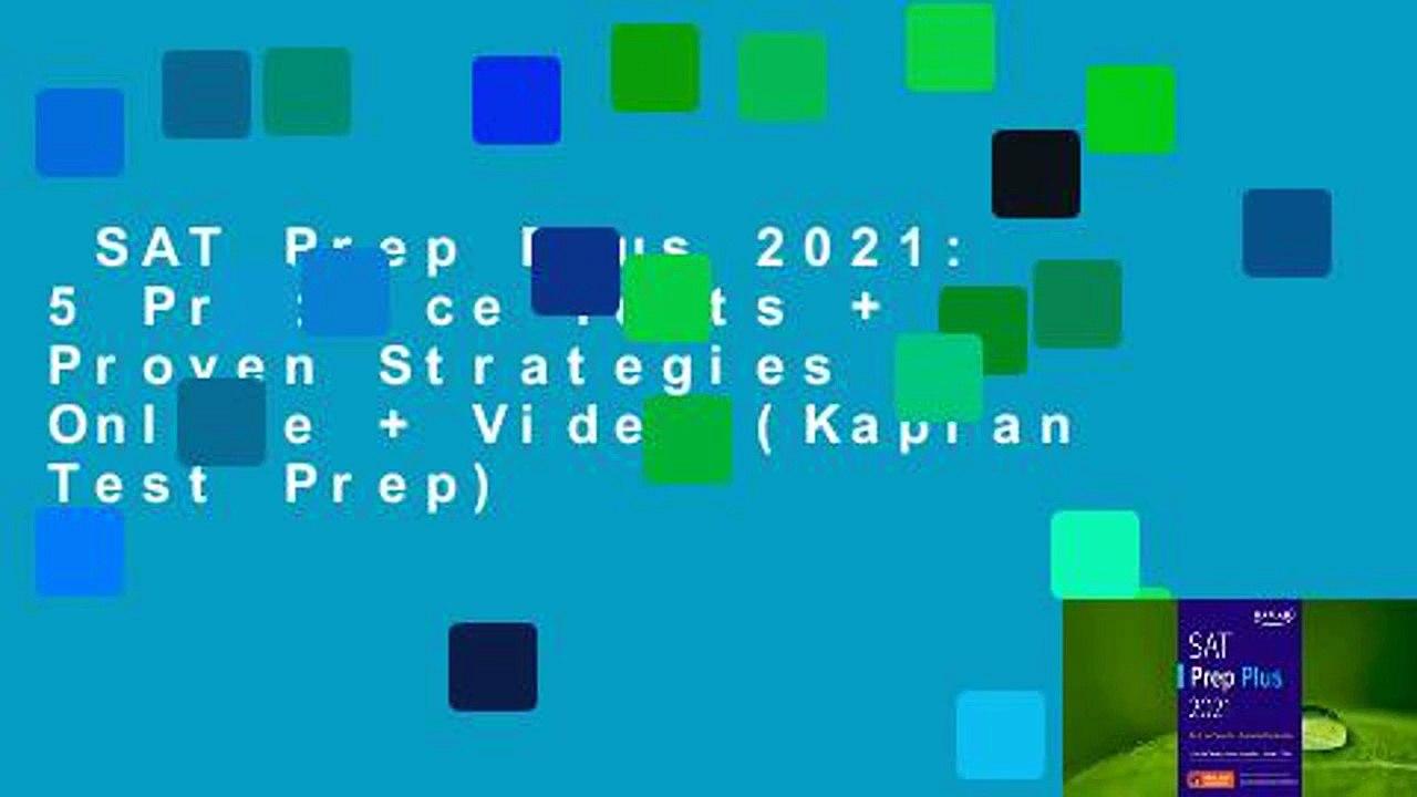SAT Prep Plus 2021: 5 Practice Tests + Proven Strategies ...