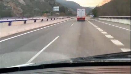 Tremendo accidente un camión junto a Campillos que acaba estrellándose