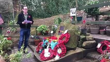 77th anniversary of the Mi Amigo air disaster at the site in Endcliffe Park, Sheffield.