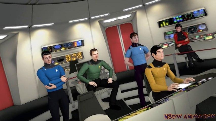 Star Trek Phase II Bridge & Character Test