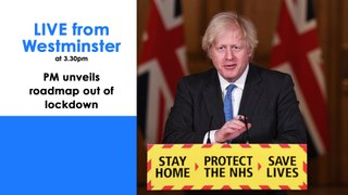 COVID-19 Live | Boris Johnson reveals roadmap out of lockdown | Live from Westminster