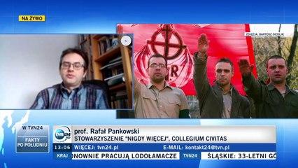 Rafał Pankowski z NIGDY WIĘCEJ o propagowaniu ideologii bliskiej faszyzmowi przez Greniucha, 21.2.21