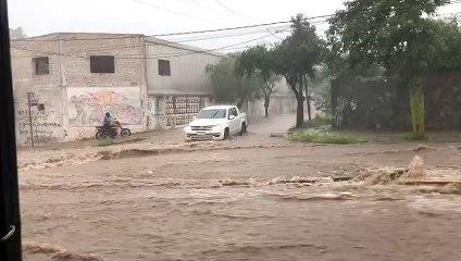 Diluvio en Catamarca: el agua arrastra por las calles a personas