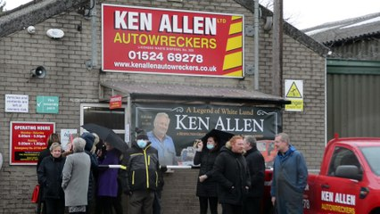 Hundreds line the streets to say farewell to Ken Allen