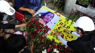Myanmar: memorials held for protester shot by police