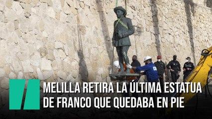 Melilla aprueba retirar la última estatua de Franco que sigue en pie