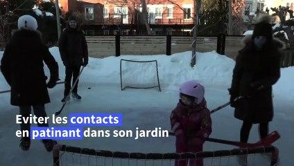 A Montréal, patiner dans son jardin, loin du virus