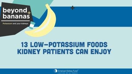 13 Low-Potassium Foods Kidney Patients Can Enjoy