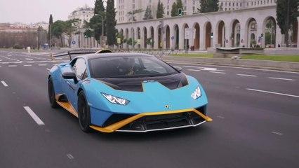 Der neue Lamborghini Huracán STO in Madrid