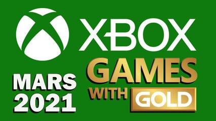 """XBOX : LES JEUX GRATUITS DE MARS 2021 """"GAMES WITH GOLD"""""""