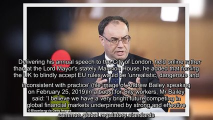 ✅ Bank of England boss broadsides the EU over finance industry rules
