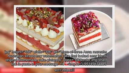 ✅ Mum recreates popular watermelon cake using Coles sponge cakes