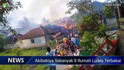 Kebakaran di Lebak 8 Rumah Ludes Terbakar