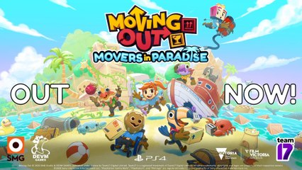 Moving Out - Movers in Paradise - Launch Trailer PS4