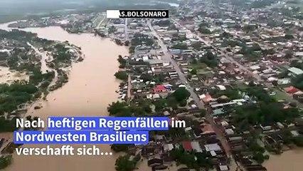 Überschwemmungen in Brasilien nach starkem Regen