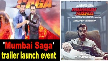 John Abraham, Emraan Hashmi and others attend 'Mumbai Saga' trailer launch event