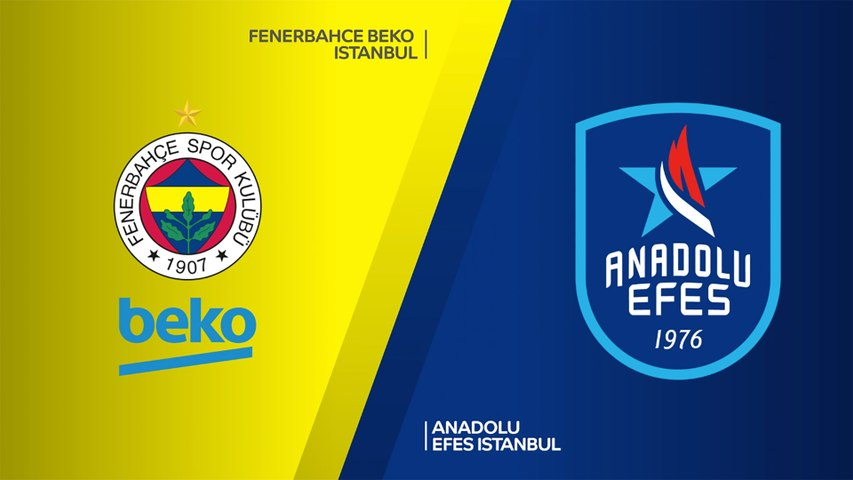 Fenerbahce Beko Istanbul - Anadolu Efes Istanbul Highlights   Turkish Airlines EuroLeague, RS Round 26