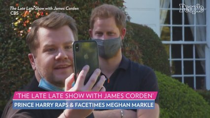 Prince Harry Swears, Raps and FaceTimes Meghan as He Joins James Corden on Double Decker Bus Ride
