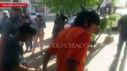 Manifestación frente a la Fiscalía de Sáenz Peña para reclamar la liberación de los Indígenas detenidos
