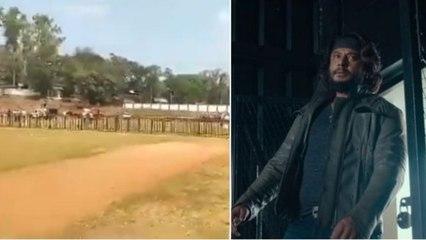 ರೆಡಿಯಾಗ್ತಿದೆ ಬೃಹತ್ ಡಿ ಬಾಸ್ ವೇದಿಕೆ | Roberrt Pre-Release Event Hubli | Filmibeat Kannada