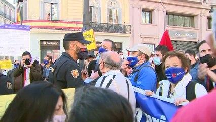 Manifestación por la sanidad en Madrid termina con un miembro de CGT detenido