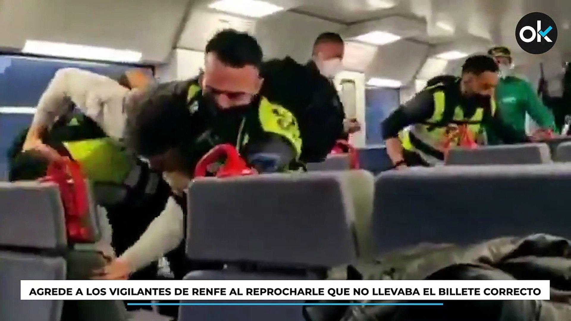 Agrede a los vigilantes de RENFE al reprocharle que no llevaba el billete correcto