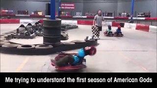 Un enfant fait un malaise sur son karting... Impressionnant