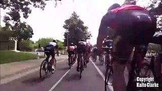 Ce cycliste se prend un drone en pleine course... douloureux