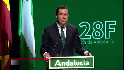 Moreno aboga a la esperanza en el 28F para la reconstrucción de Andalucía