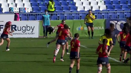 HIGHLIGHTS - SPAIN V NETHERLANDS WOMENS RUGBY EUROPE CHAMPIONSHIP 2020