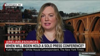 When will Biden hold a solo press conference?