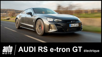 Audi RS e-Tron GT 100% électrique 1 er essai POV Auto-Moto.com