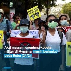 Tolak Sikap Indonesia, Demonstran Kepung Kedubes RI di Myanmar