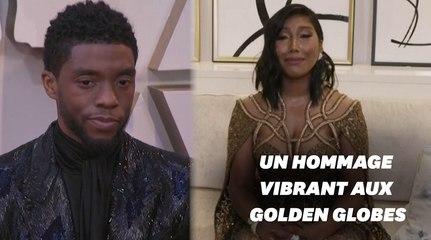 Aux Golden Globes 2021, les larmes de la veuve de Chadwick Boseman