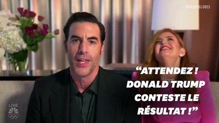 Aux Golden Globes, Sacha Baron Cohen ironise sur le camp Trump