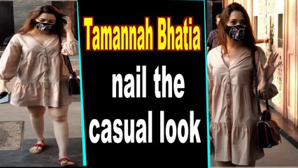 Tamannaah Bhatia opts for a casual outfit as she steps out in the city