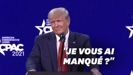 Donald Trump de retour sur la scène politique, avec le même discours