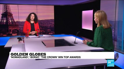 'Nomandland,' Borat,' 'The Crown' win at bicoastal Globes