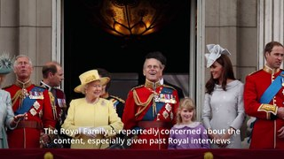 Harry and Meghan sit to